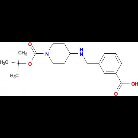 3-[1-(tert-Butoxycarbonyl)piperidin-4-ylamino]methylbenzoic acid