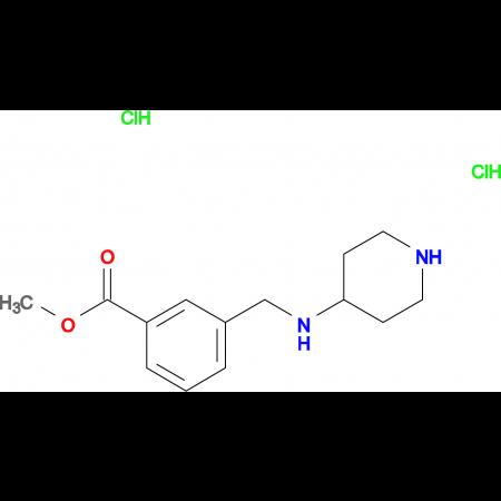Methyl 3-[(piperidin-4-ylamino)methyl]benzoate dihydrochloride