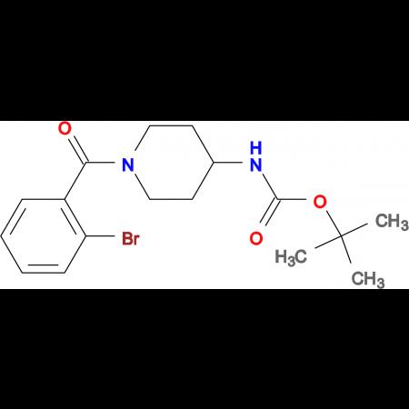 tert-Butyl 1-(2-bromobenzoyl)piperidin-4-ylcarbamate