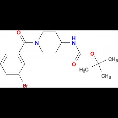 tert-Butyl 1-(3-bromobenzoyl)piperidin-4-ylcarbamate