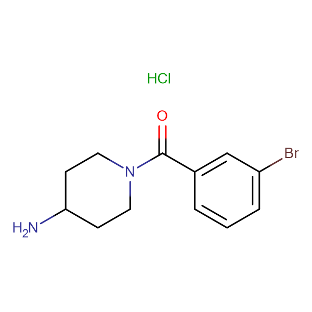 (4-Aminopiperidin-1-yl)(3-bromophenyl)methanone hydrochloride