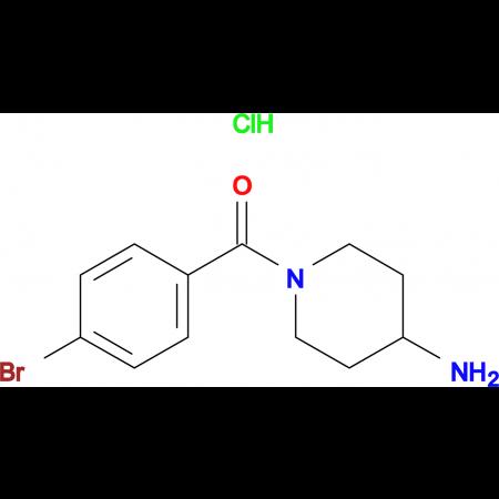 (4-Aminopiperidin-1-yl)(4-bromophenyl)methanone hydrochloride