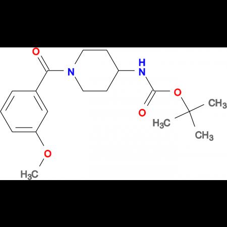 tert-Butyl 1-(3-methoxybenzoyl)piperidin-4-ylcarbamate