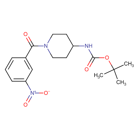 tert-Butyl 1-(3-nitrobenzoyl)piperidin-4-ylcarbamate