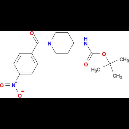 tert-Butyl 1-(4-nitrobenzoyl)piperidin-4-ylcarbamate
