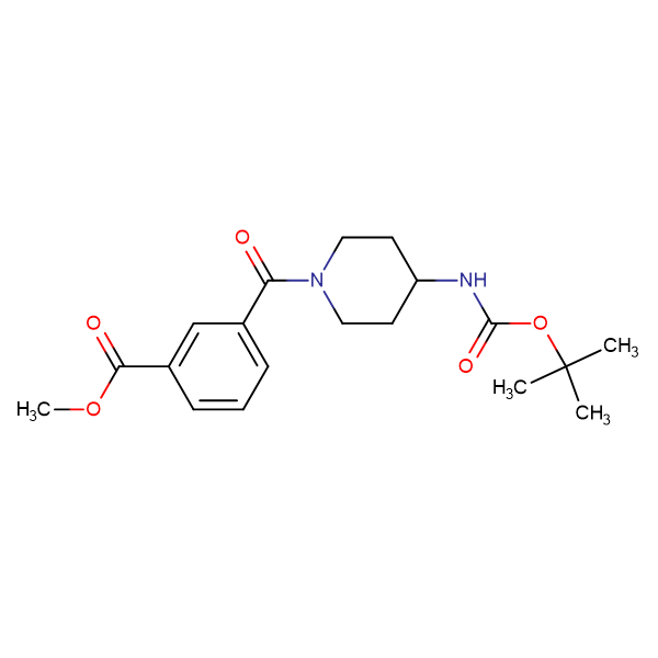 Methyl 3-[4-(tert-butoxycarbonyl)amino-piperidine-1-carbonyl]benzoate
