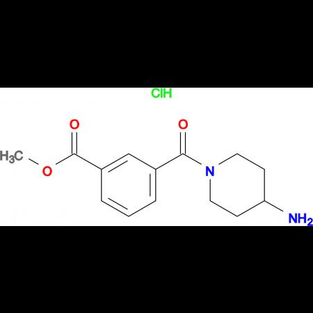 Methyl 3-(4-aminopiperidine-1-carbonyl)benzoate hydrochloride