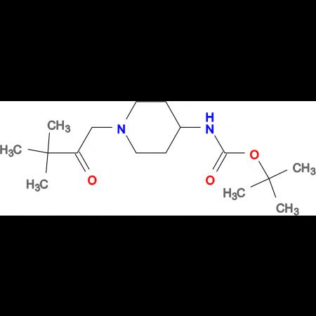 tert-Butyl 1-(3,3-dimethyl-2-oxobutyl)piperidin-4-ylcarbamate