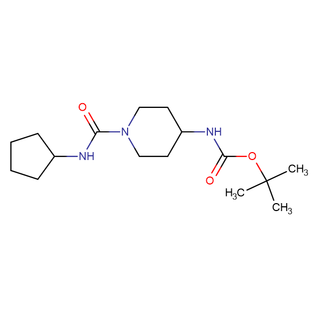 tert-Butyl 1-(cyclopentylcarbamoyl)piperidin-4-ylcarbamate