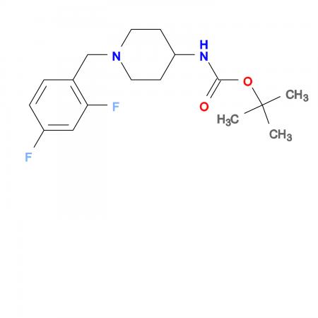tert-Butyl 1-(2,4-difluorobenzyl)piperidin-4-ylcarbamate