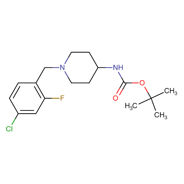 tert-Butyl 1-(4-chloro-2-fluorobenzyl)piperidin-4-ylcarbamate