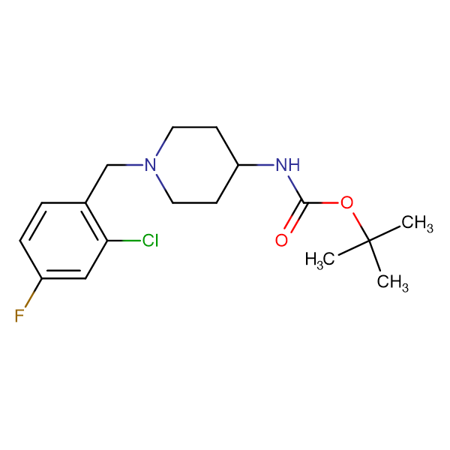 tert-Butyl 1-(2-chloro-4-fluorobenzyl)piperidin-4-ylcarbamate
