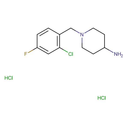 1-(2-Chloro-4-fluorobenzyl)piperidin-4-amine dihydrochloride