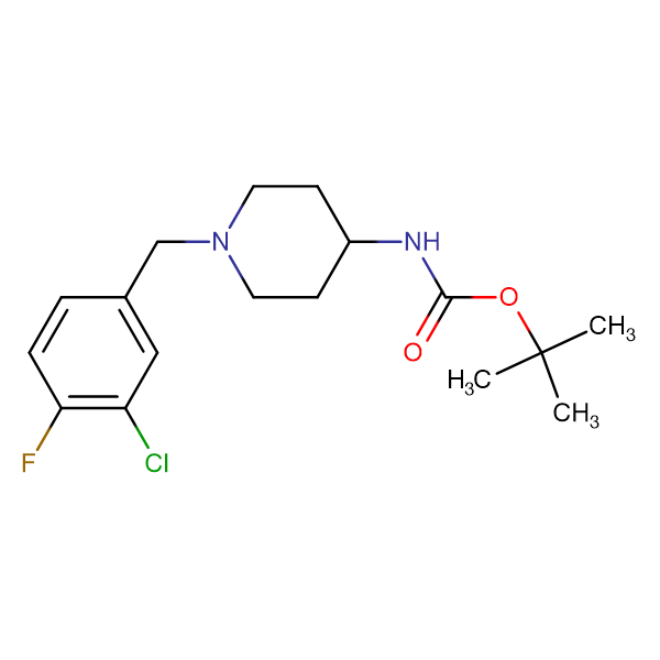 tert-Butyl 1-(3-chloro-4-fluorobenzyl)piperidin-4-ylcarbamate