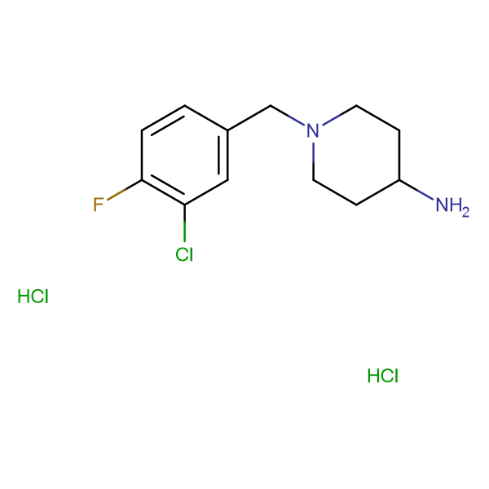 1-(3-Chloro-4-fluorobenzyl)piperidin-4-amine dihydrochloride