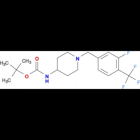 tert-Butyl 1-[3-fluoro-4-(trifluoromethyl)benzyl]piperidin-4-ylcarbamate