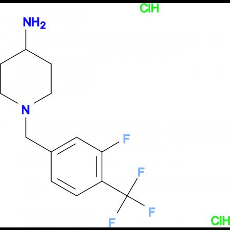 1-[3-Fluoro-4-(trifluoromethyl)benzyl]piperidin-4-amine dihydrochloride