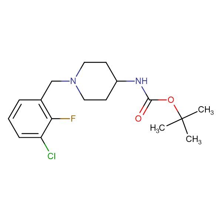 tert-Butyl 1-(3-chloro-2-fluorobenzyl)piperidin-4-ylcarbamate