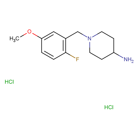 1-(2-Fluoro-5-methoxybenzyl)piperidin-4-amine dihydrochloride