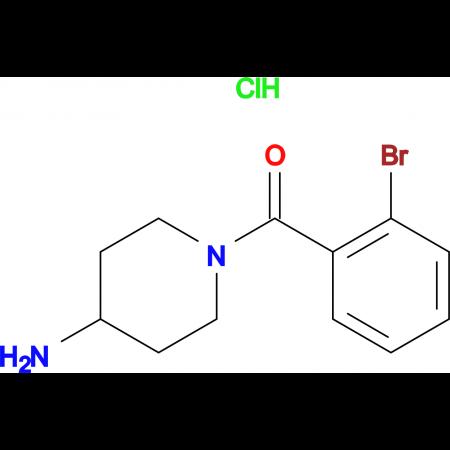 (4-Aminopiperidin-1-yl)(2-bromophenyl)methanone hydrochloride