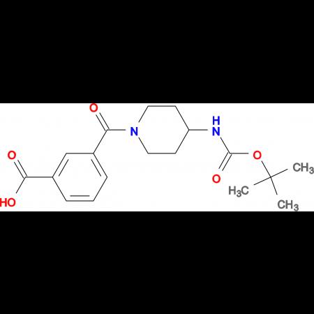 3-[4-(tert-Butoxycarbonylamino)piperidine-1-carbonyl]benzoic acid