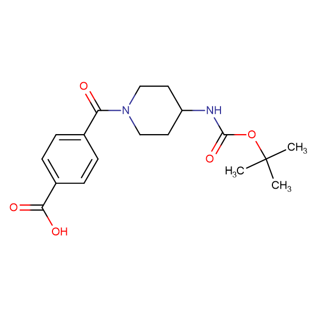 4-[4-(tert-Butoxycarbonylamino)piperidine-1-carbonyl]benzoic acid