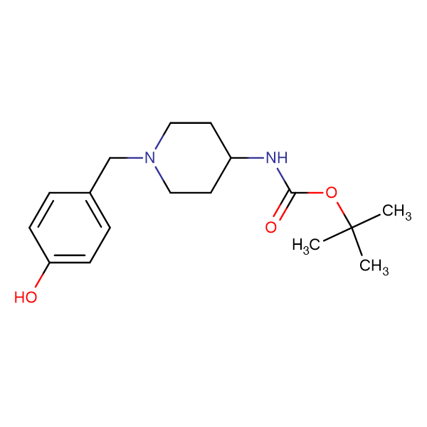 tert-Butyl 1-(4-hydroxybenzyl)piperidin-4-ylcarbamate