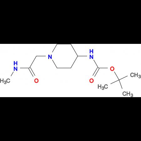 tert-Butyl 1-[2-(methylamino)-2-oxoethyl]piperidin-4-ylcarbamate