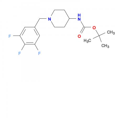 tert-Butyl 1-(3,4,5-trifluorobenzyl)piperidin-4-ylcarbamate