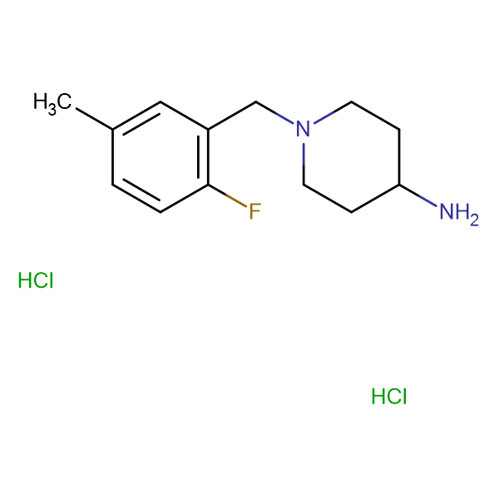 1-(2-Fluoro-5-methylbenzyl)piperidin-4-amine dihydrochloride