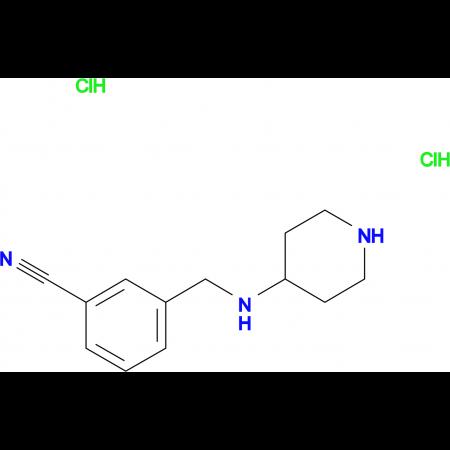 3-[(Piperidine-4-ylamino)methyl]benzonitrile dihydrochloride