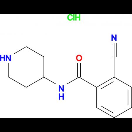 2-Cyano-N-piperidin-4-yl-benzamide hydrochloride