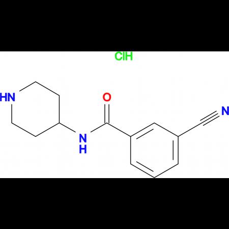 3-Cyano-N-piperidin-4-yl-benzamide hydrochloride