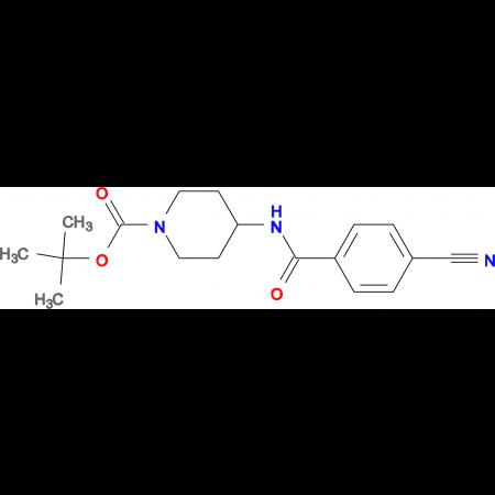tert-Butyl 4-(4-cyanobenzoylamino)piperidine-1-carboxylate