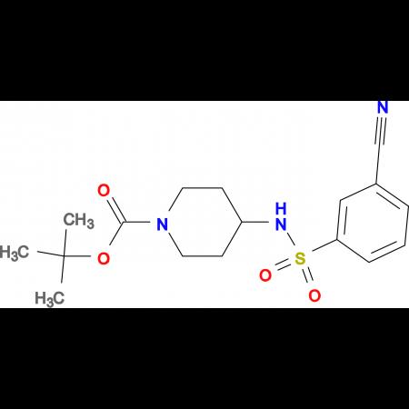 tert-Butyl 4-(3-cyanobenzenesulfonylamino)piperidine-1-carboxylate