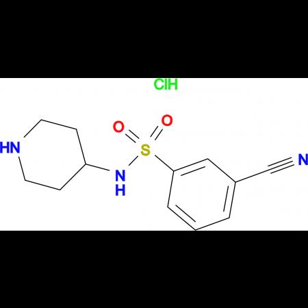 3-Cyano-N-piperidin-4-yl-benzenesulfonamide hydrochloride