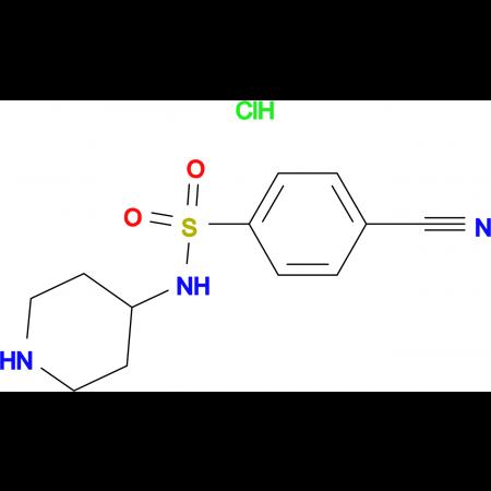 4-Cyano-N-piperidin-4-yl-benzenesulfonamide hydrochloride