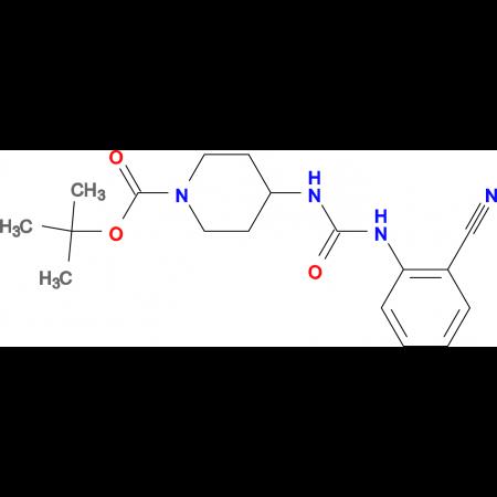 tert-Butyl 4-[3-(2-cyanophenyl)ureido]piperidine-1-carboxylate