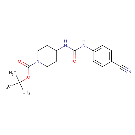 tert-Butyl 4-[3-(4-cyanophenyl)ureido]piperidine-1-carboxylate