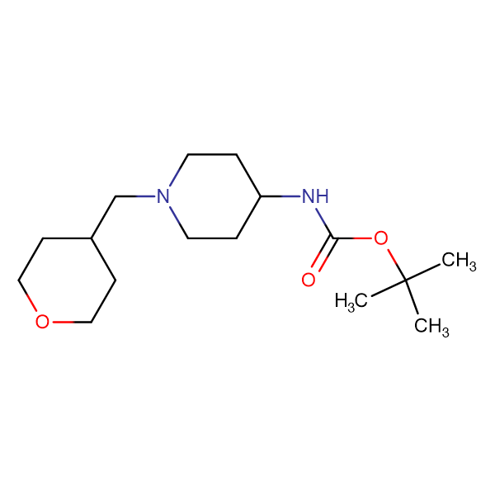 tert-Butyl 1-[(tetrahydro-2H-pyran-4-yl)methyl]piperidin-4-ylcarbamate