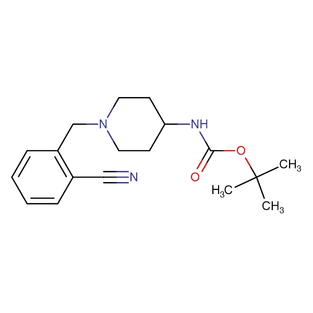 tert-Butyl 1-(2-cyanobenzyl)piperidin-4-ylcarbamate