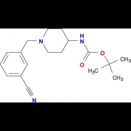 tert-Butyl 1-(3-cyanobenzyl)piperidin-4-ylcarbamate