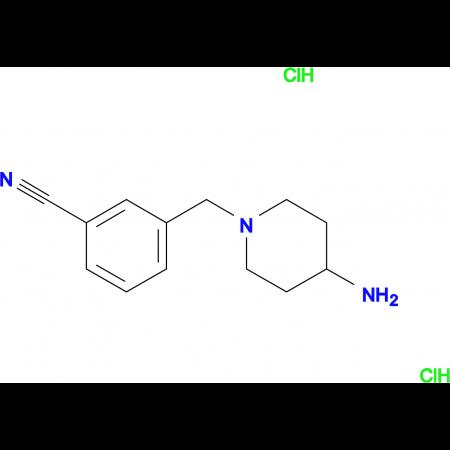 3-[(4-Aminopiperidin-1-yl)methyl]benzonitrile dihydrochloride
