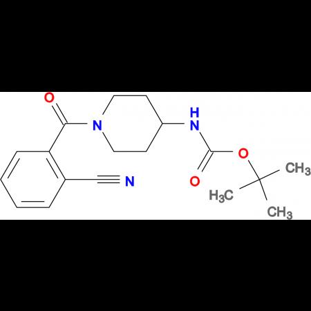 tert-Butyl 1-(2-cyanobenzoyl)piperidin-4-ylcarbamate