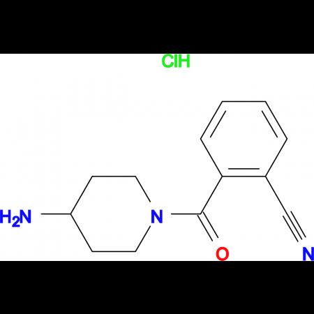 2-(4-Aminopiperidine-1-carbonyl)benzonitrile hydrochloride
