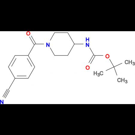 tert-Butyl 1-(4-cyanobenzoyl)piperidin-4-ylcarbamate