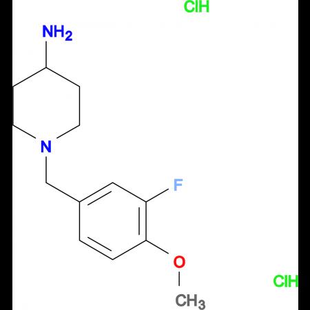 1-(3-Fluoro-4-methoxybenzyl)piperidin-4-amine dihydrochloride