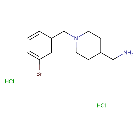 [1-(3-Bromobenzyl)piperidin-4-yl]methanamine dihydrochloride