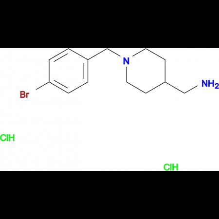 [1-(4-Bromobenzyl)piperidin-4-yl]methanamine dihydrochloride