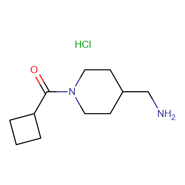 [4-(Aminomethyl)piperidin-1-yl](cyclobutyl)methanone hydrochloride